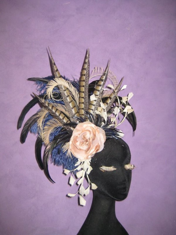 Champagne and Sapphires Divalicious Fascinator