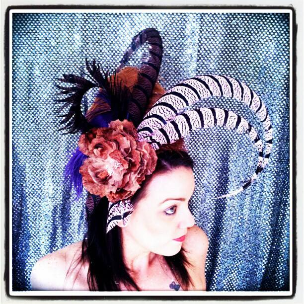 Ginger Rose deVil Divalicious Showstopper Fascinator