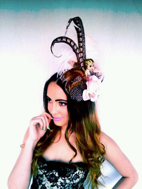 Kewpie Belle the Showgirl Divalicious Fascinator