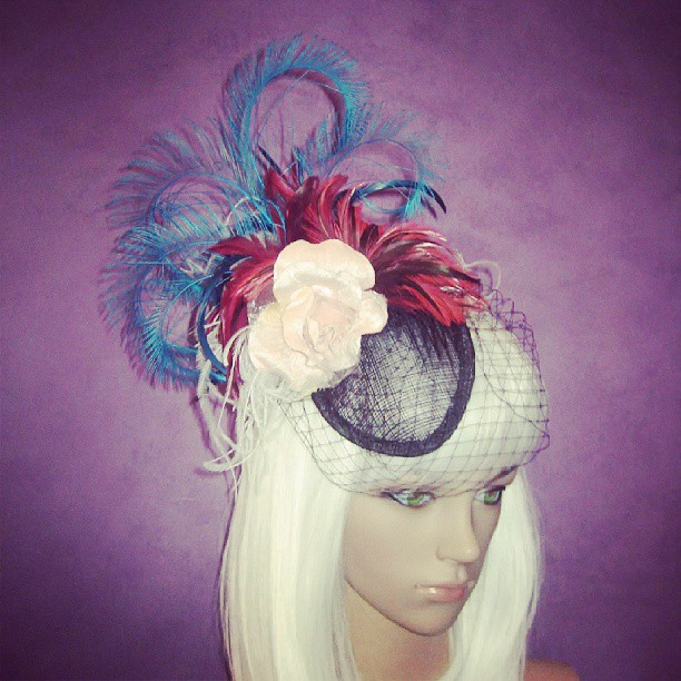Martinis on Rue de la Harpe Divalicious Birdcage Fascinator