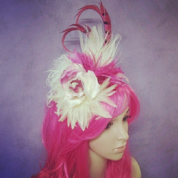 Raspberry Blondel Divalicious Fascinator
