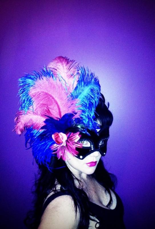Rosie Blue Belle Divalicious Masquerade Mask