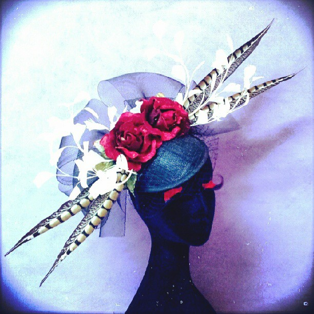Snow Leopard Rose Divalicious Fascinator