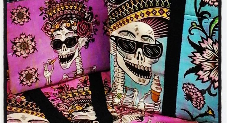 Day of the Dead Blue Q Divalicious Online Store Fast Shipping