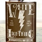 Trixie & Milo White Lightening Hip Flask 2